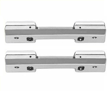 Door Panel Arm Rest Bases, Chrome, Pair LH and RH