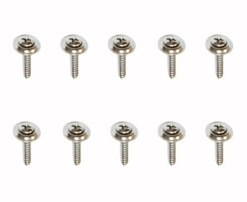 1967 - 1981 Kick Panel Screw Set, Chrome, 10 Pieces