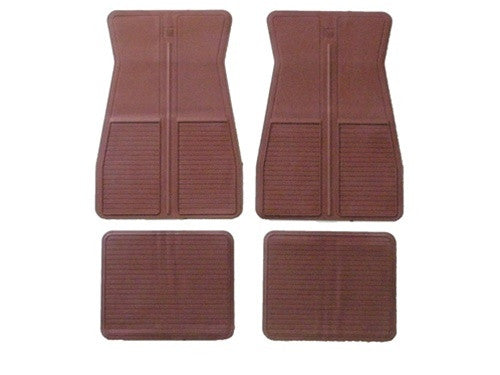 1973-1981 O.E. GM Style Floor Mats Dark Red 4 Piece Set