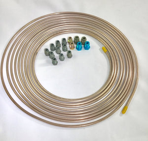 "Each pc Is 10/"" w// double invert flares 3 PCS 3//16/"" Copper Nickel Brake Lines"