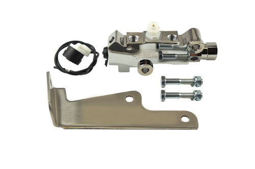 Combination Valve for Front Disc / Rear Disc - Chrome With Bracket