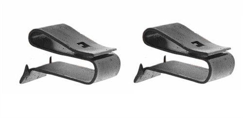 Radiator Fan Shroud Mounting Clips Set, Lower, Pair