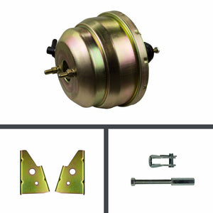 8 Inch Dual Diaphragm Brake Booster - Gold Cadmium