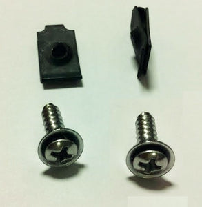 1969 Steering Column Cover Mounting Hardware Set, Under Dash, Screws and J-Nuts