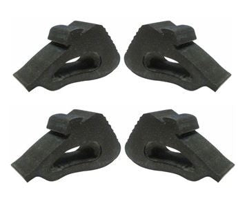 1982 - 1992 Camaro and Firebird Hood Side Rubber Bumper Stoppers ( 4 Piece Set )