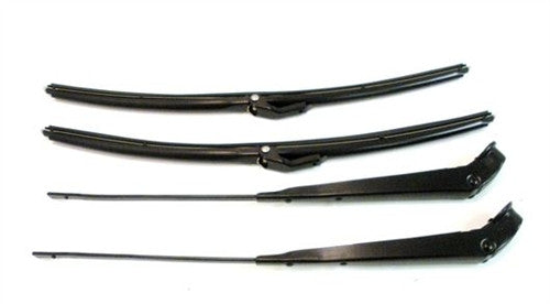 1964-1972 Windshield Wiper Arms and Blades Kit - Black -