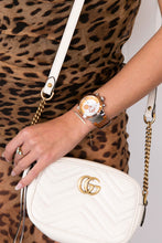 Gucci GG mini  marmont chain bag white