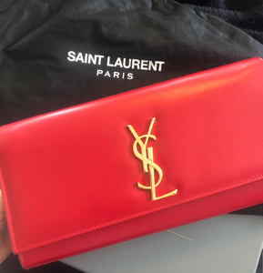Saint Laurent Classic Clutch - Red