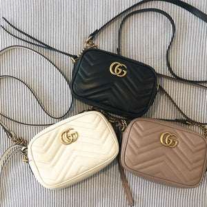 Gucci GG mini  marmont chain bag black
