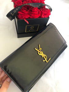 Saint Laurent black patent Classic Clutch