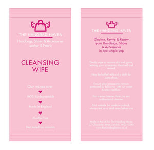 The Handbag Haven - single cleansing wipe