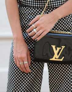 Louis Vuitton Noir Chain Louise MM Black/Gold