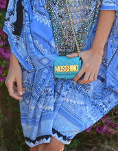 Moschino Blue Quilted Leather Mini Bag
