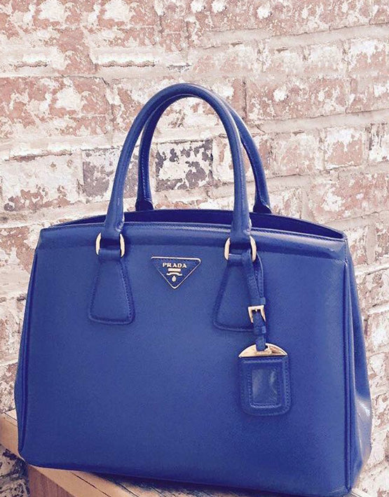 ... ebay prada blue saffiano tote all the dresses b233d 6e7a7 733657f7ff