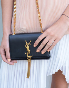Saint Laurent Black Tassel Satchel - Small
