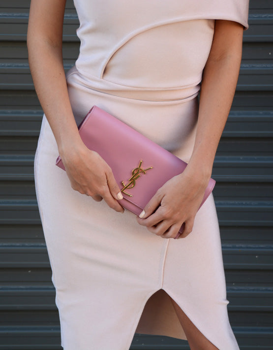 Saint Laurent Pink Classic Clutch