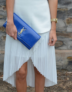 Saint Laurent Blue Classic Clutch