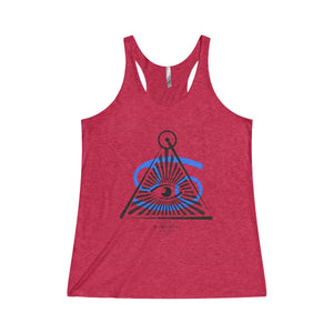 CANCER SUN TRIBE Tri-Blend Woman's Racerback Tank