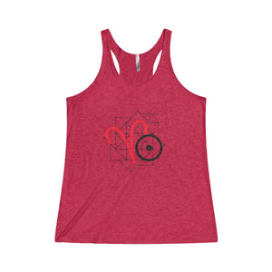 ARIES SUN TRIBE Tri-Blend Woman's Racerback Tank