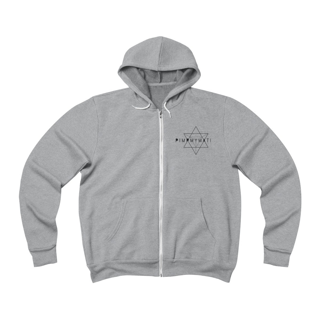 PIMPMYMATRIX Unisex Fleece Full-Zip Hoodie