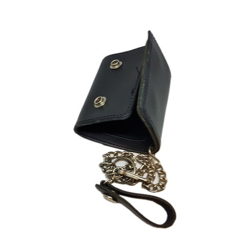 Small Leather Wallet on Chain