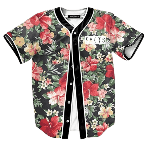 Floral Facts Baseball Jersey - Hype Jerseys