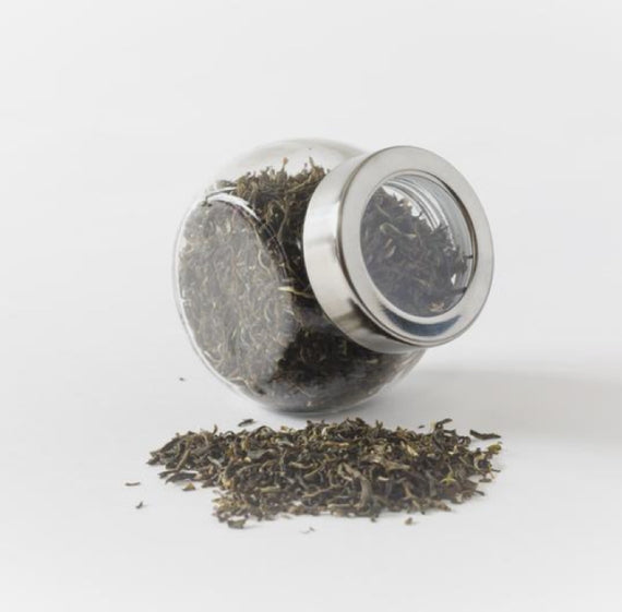 Black Looseleaf Tea Jar