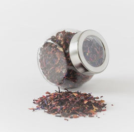Red Looseleaf Tea Jar