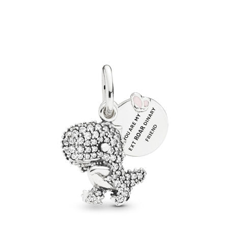 Pave Dinosaur Dangle Charm