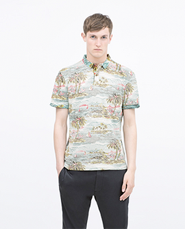 Printed Polo T-shirt