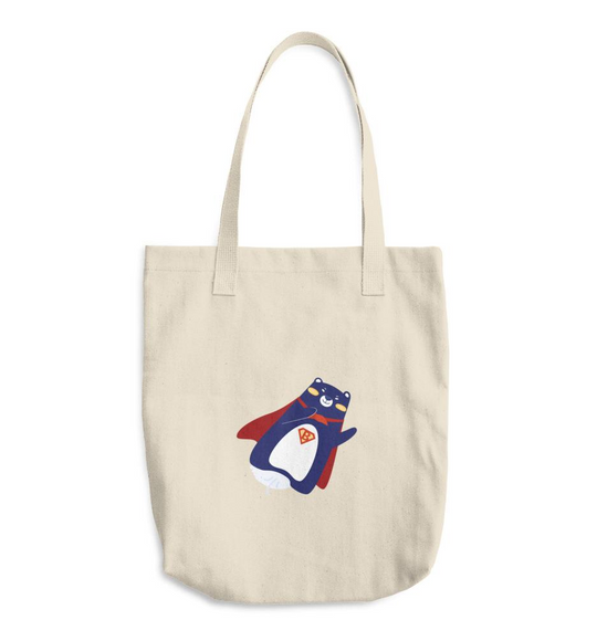 Cotton Tote Bag - Superbear v1