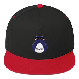 Flat Bill Cap - Red Black