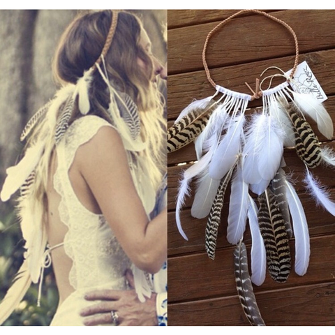 Indie - feather headpiece.