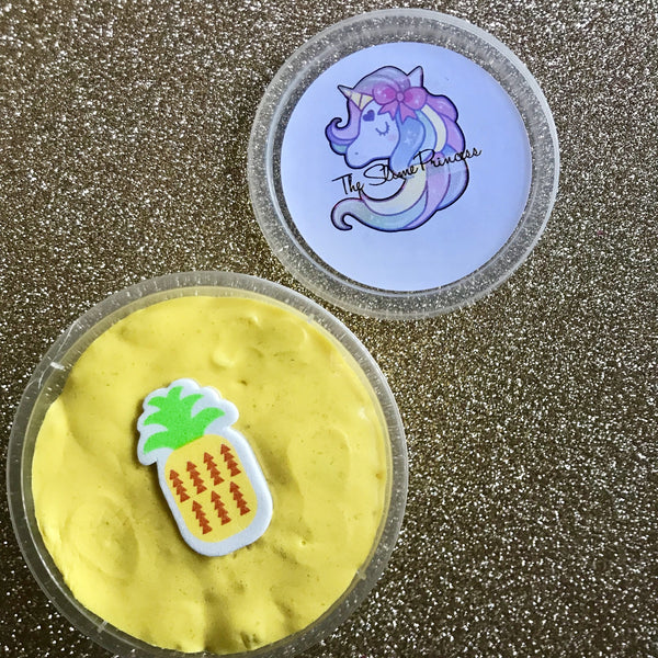 Mini Yellow Pineapple Butter Slime.