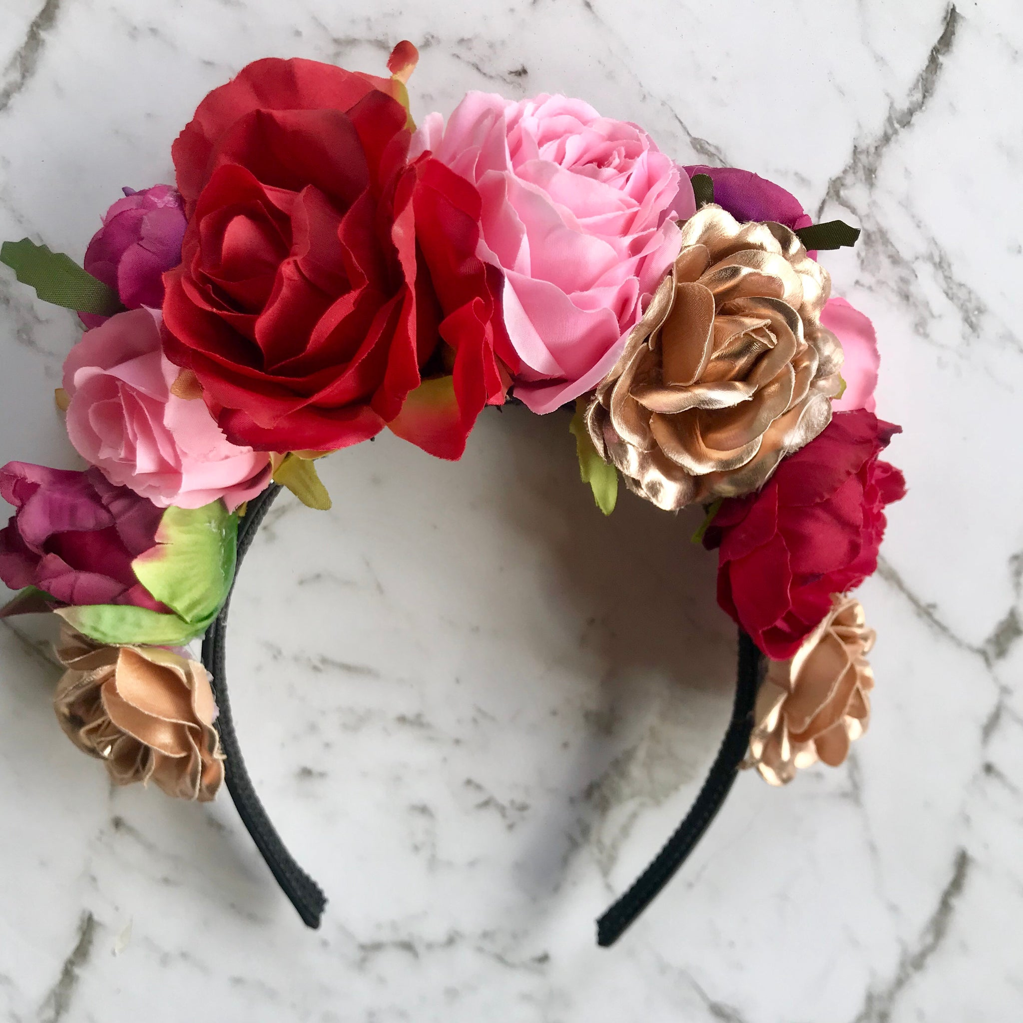 Fiesta - mixed floral crown.