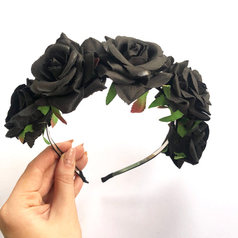 Black rose Flowercrown.