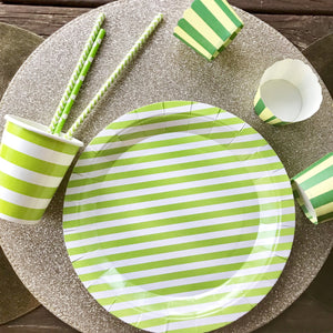 Green stripe party set.