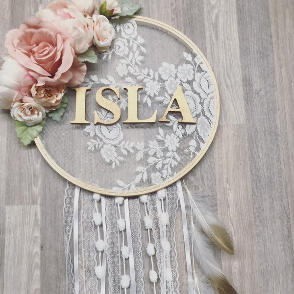 Vintage Dreams- custom name Dreamcatcher.