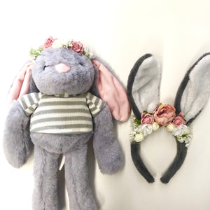 My Easter Bunny + Me set. - grey.