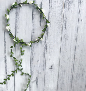 Garden halo Flowercrown - White