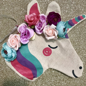 Floral unicorn purse.
