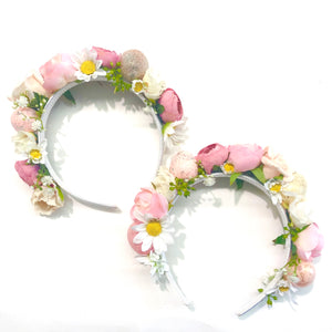 Floral Easter egg crown - pink.