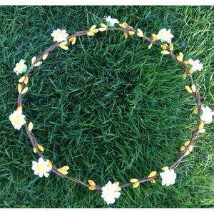 Mini daisy crown - yellow
