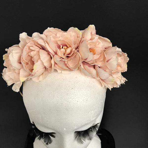 Dusty pink peony crown.