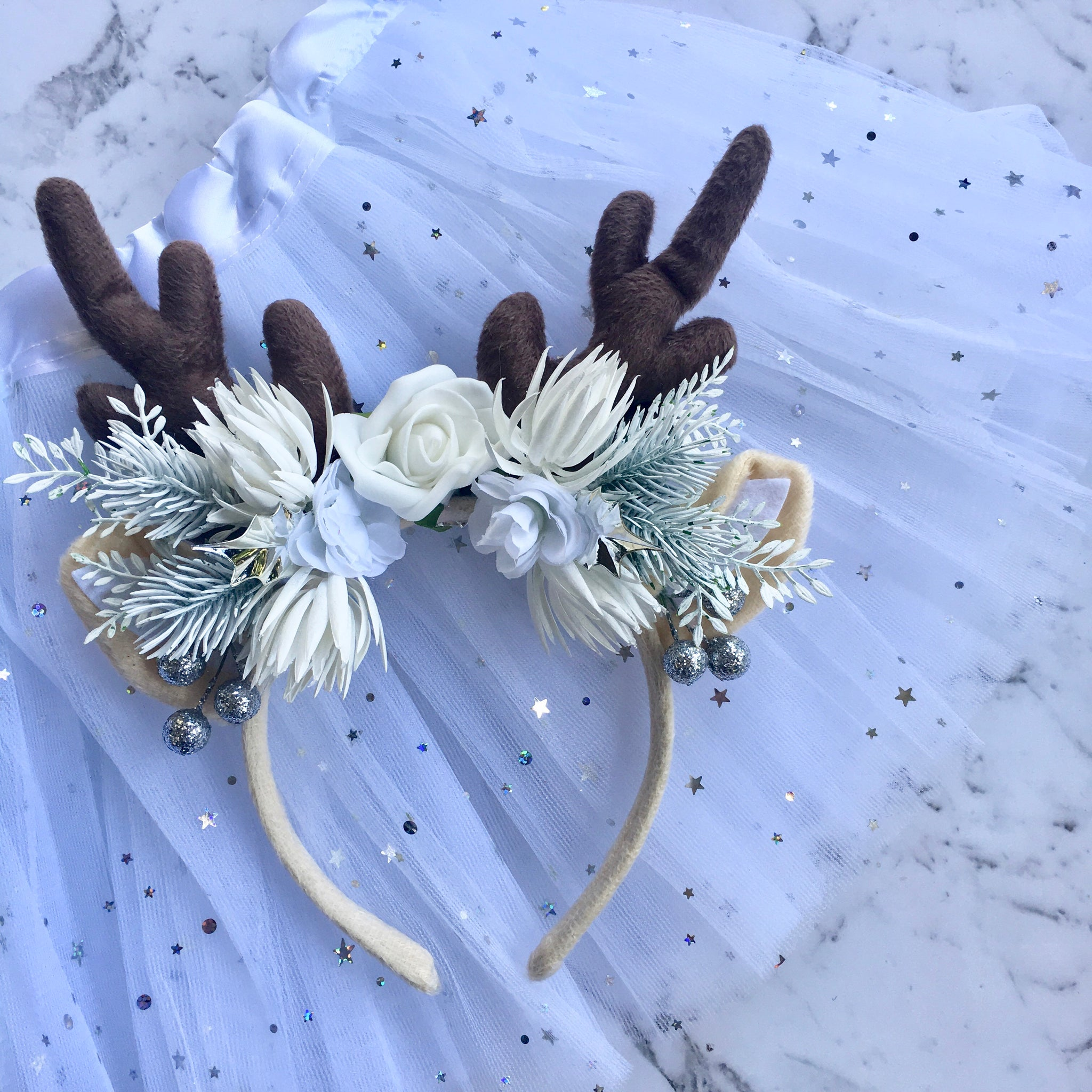 Snow Princess - reindeer crown + tutu set.