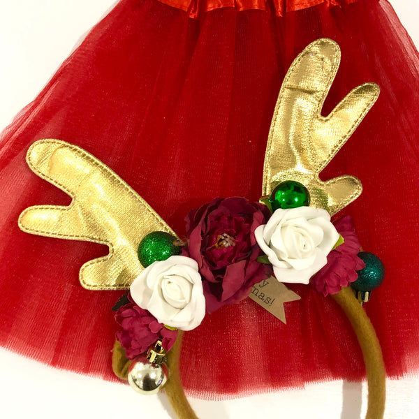 Reindeer Princess - reindeer crown + tutu set- STYLE 1