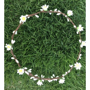Mini Daisy crown - white