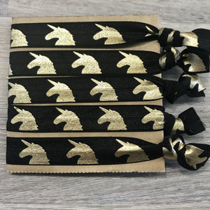 Unicorn hair ties- black