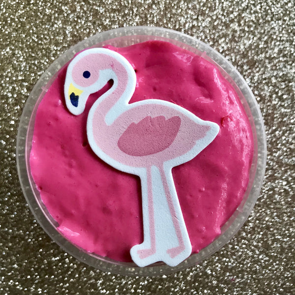 Mini Hot Pink Flamingo Butter Slime.