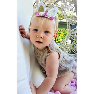 Mini Baby Bunny ears. - Gold or Silver.